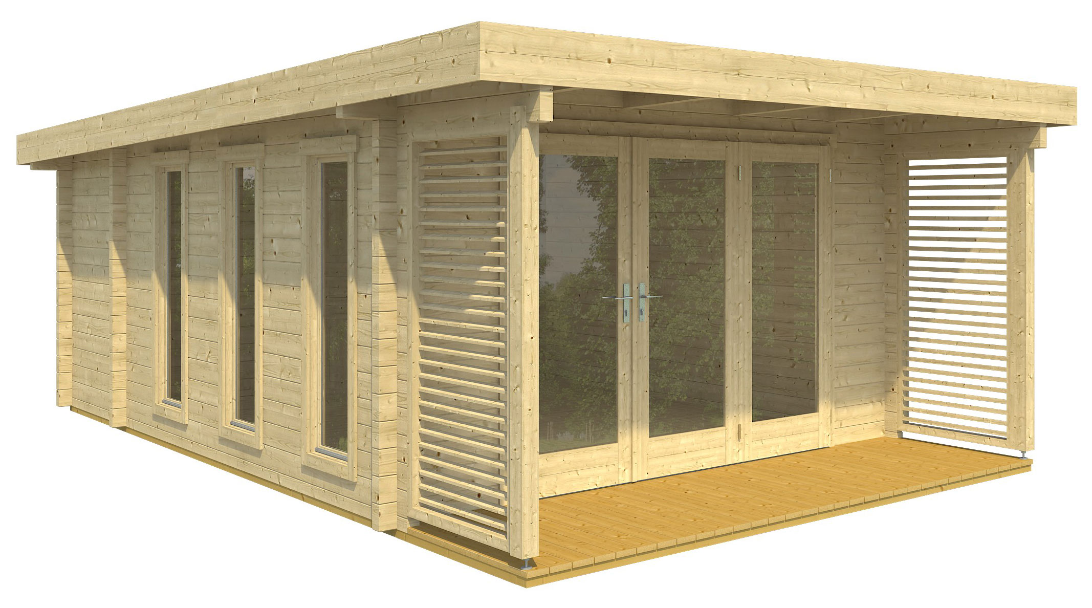 gartenhaus mit berdachter terrasse good skanholz. Black Bedroom Furniture Sets. Home Design Ideas