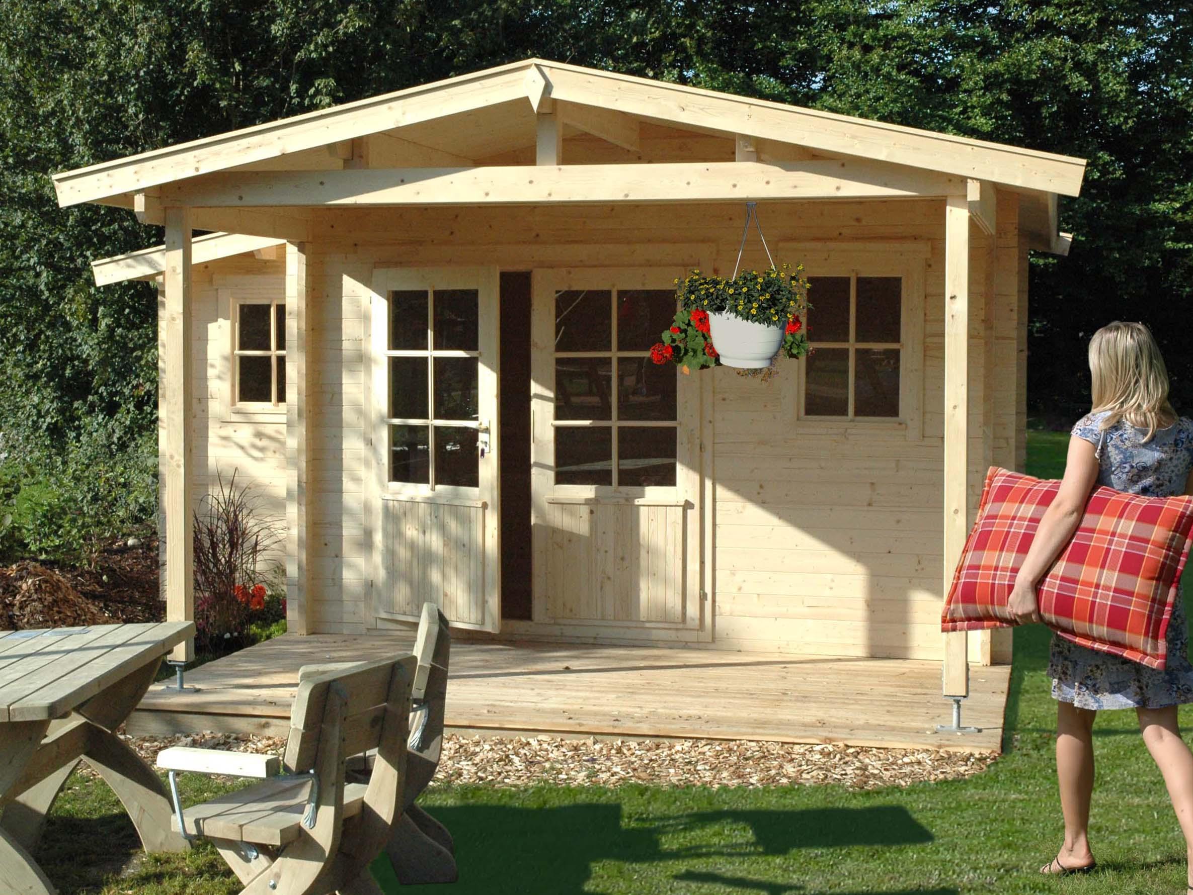 gartenhaus weekend ranch domicil g nstig kaufen online shop. Black Bedroom Furniture Sets. Home Design Ideas