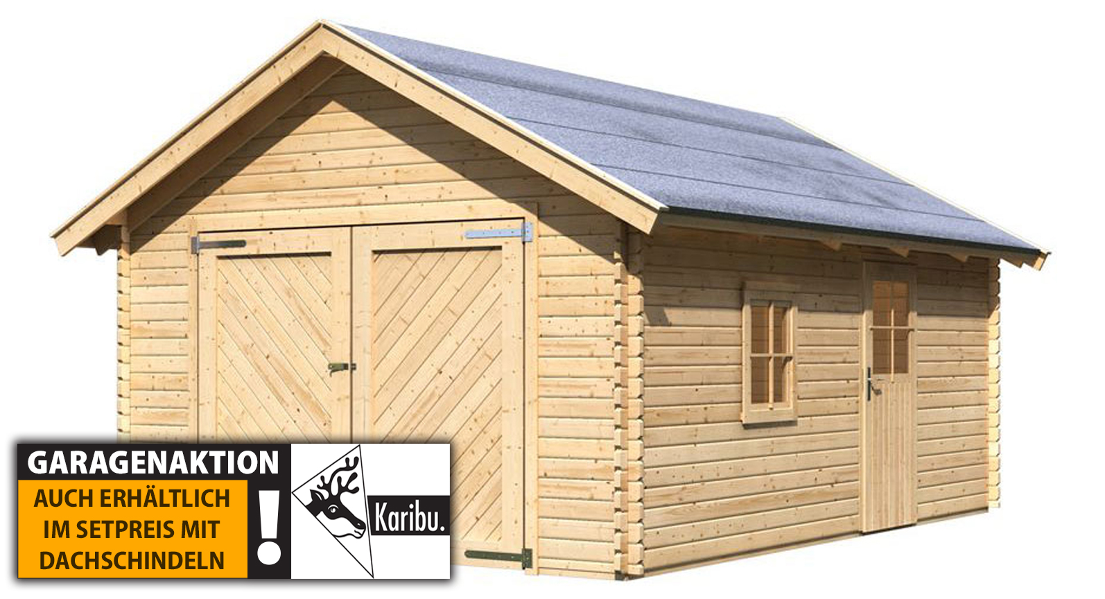 Karibu Satteldach Holzgarage online günstig kaufen
