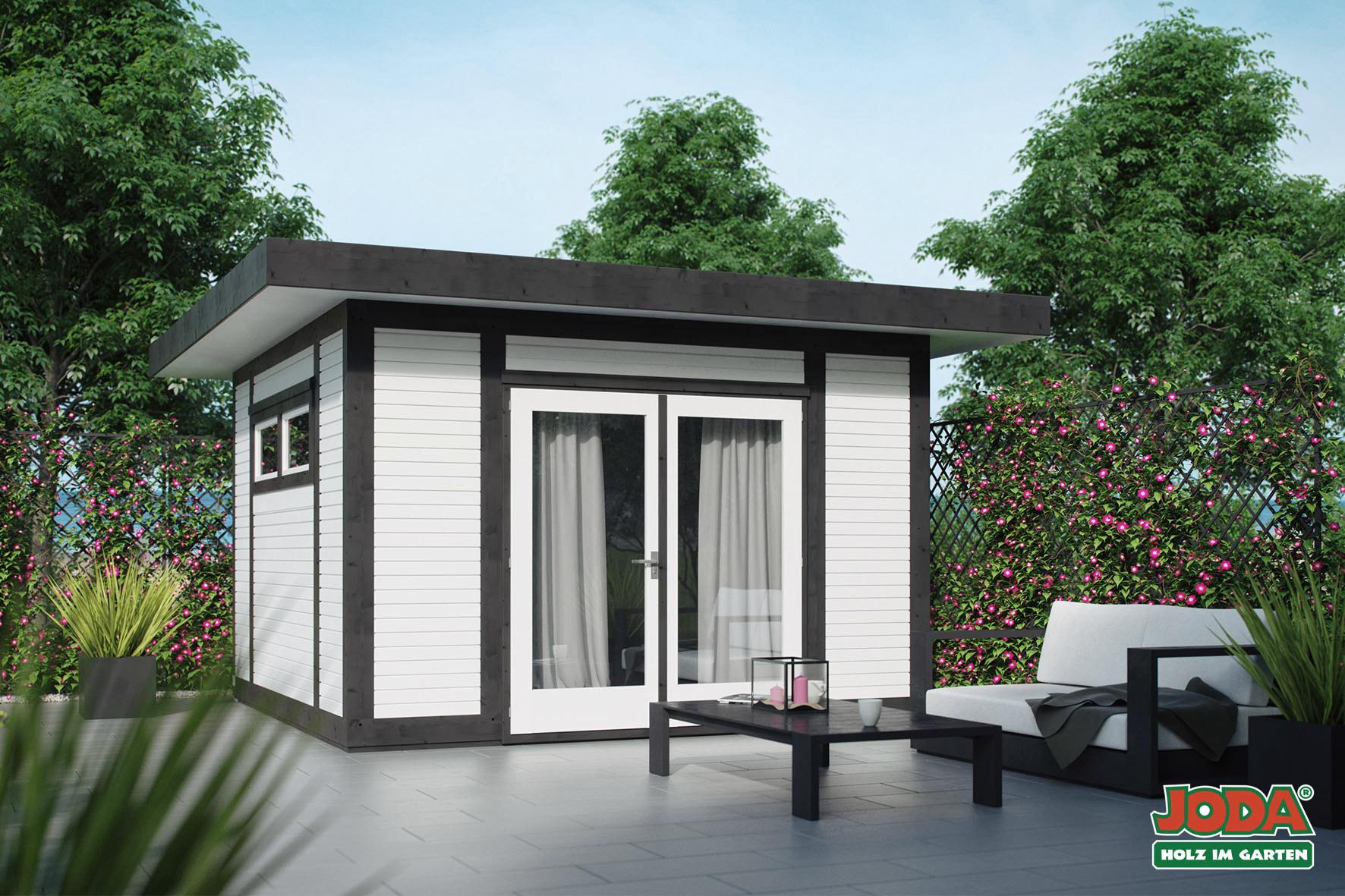 flachdach gartenhaus trondheim online g nstig kaufen. Black Bedroom Furniture Sets. Home Design Ideas