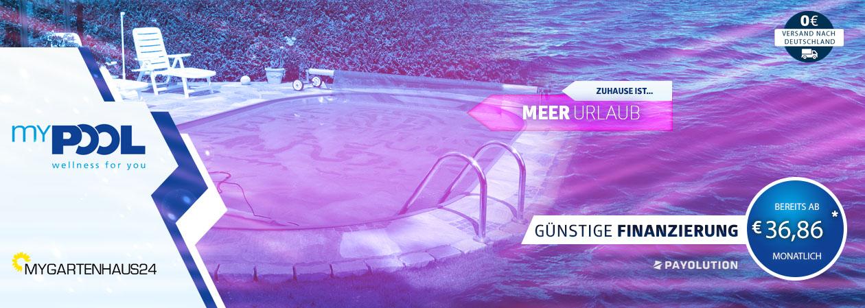 Große Auswahl an hochwertigen Schwimmbecken und Pools von myPOOL exklusiv bei myGartenhaus24.de