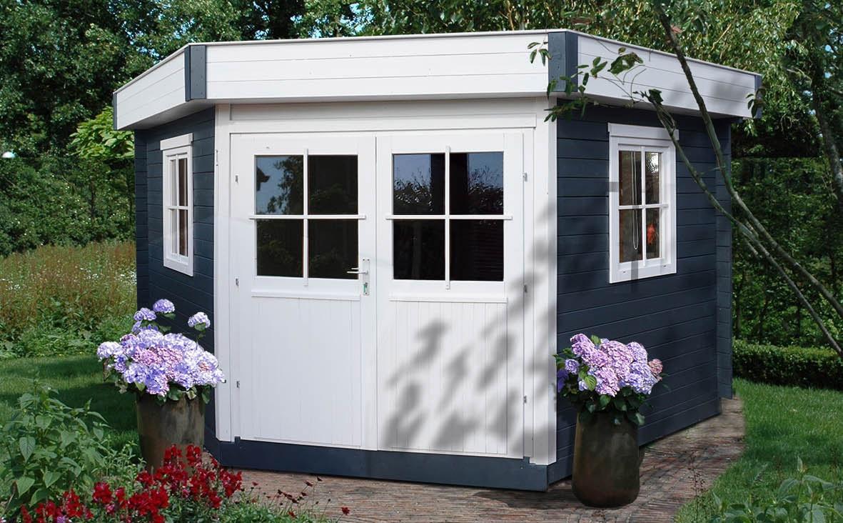 modernes gartenhaus flachdach pultdach gartenhaus york. Black Bedroom Furniture Sets. Home Design Ideas