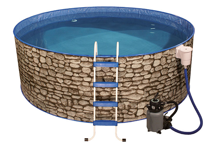 MyPool Pool-Set Splash Rundform Steinoptik