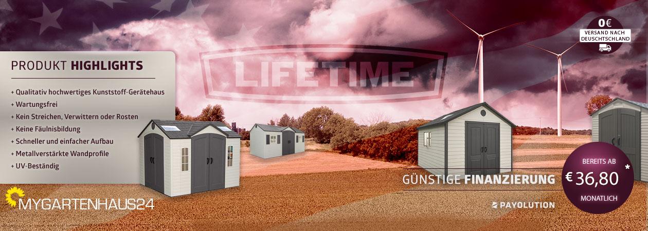 Gartenhaus von Lifetime in Deutschland online bestellen bei MyGartenhaus24.de