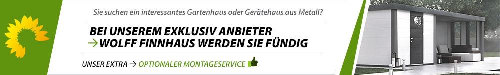 Banner Gartenhaus Metall